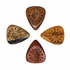 Timber Tones Grip Mixed Pack of 4 Guitar Picks